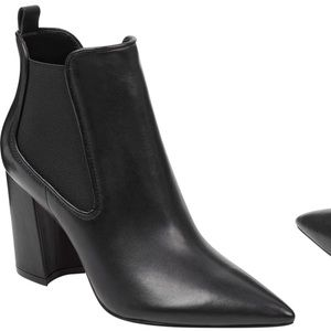 MARC FISHER Taci Bootie - Black Leather